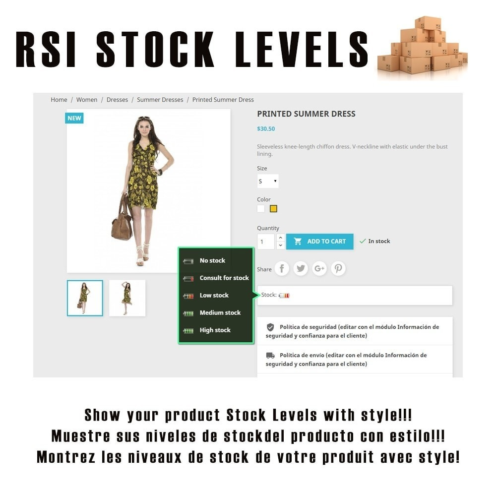 module - Additional Information & Product Tab - RSI Stock Levels - 1