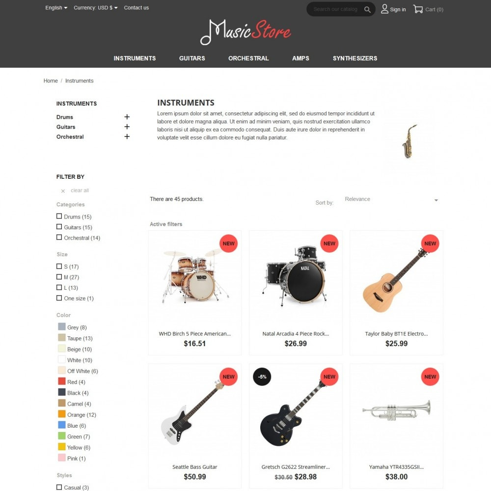 theme - Art & Culture - MusicStore - 5