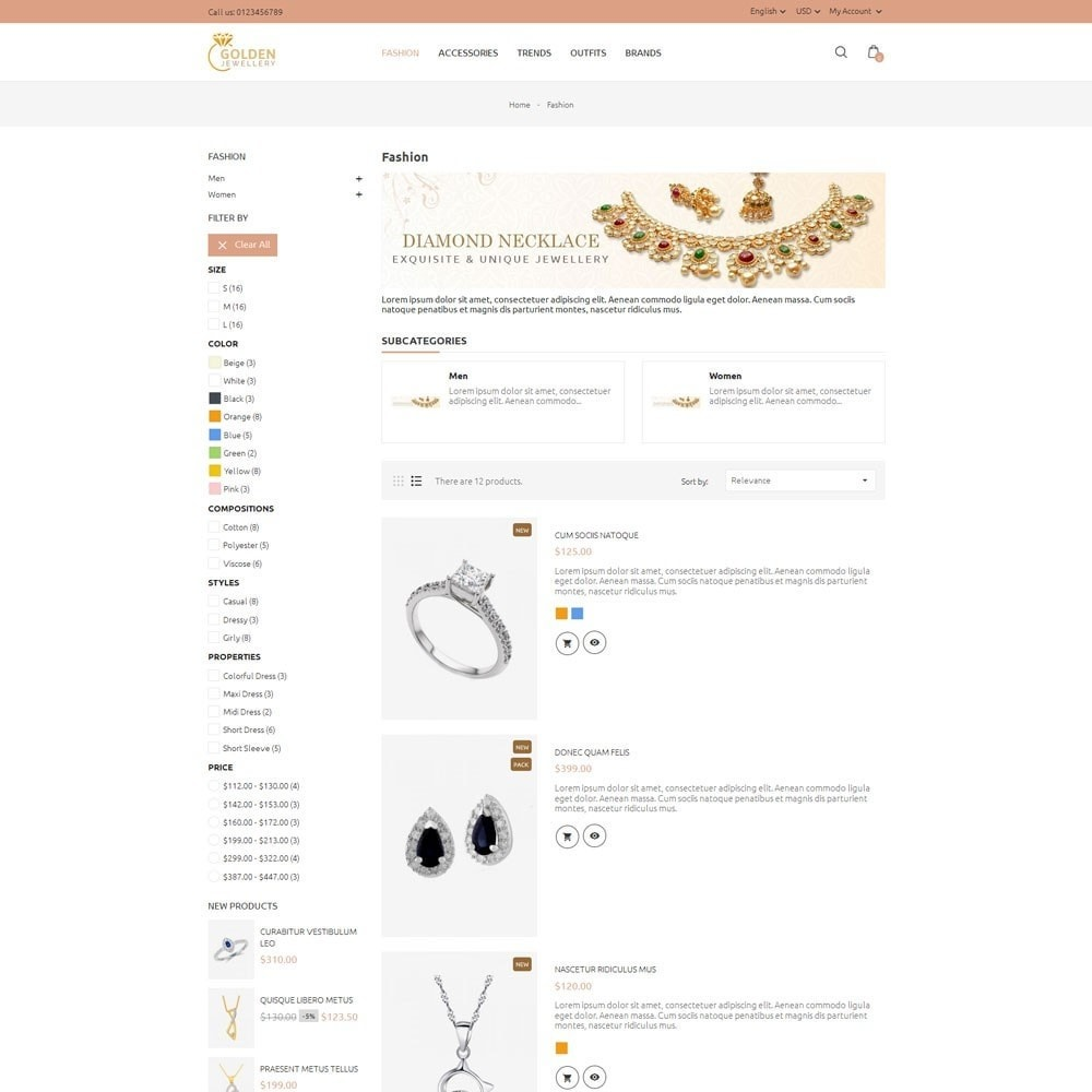 theme - Schmuck & Accesoires - Golden Jewellery Store - 4