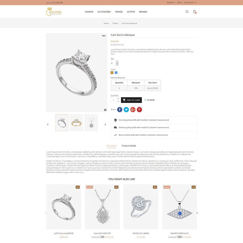 theme - Schmuck & Accesoires - Golden Jewellery Store - 5