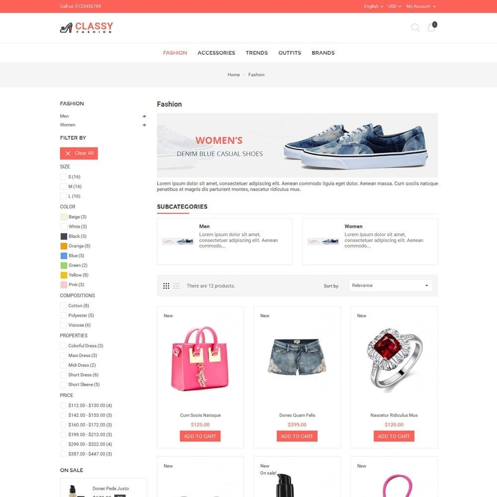 theme - Fashion & Shoes - Classy Fashion Store - 3