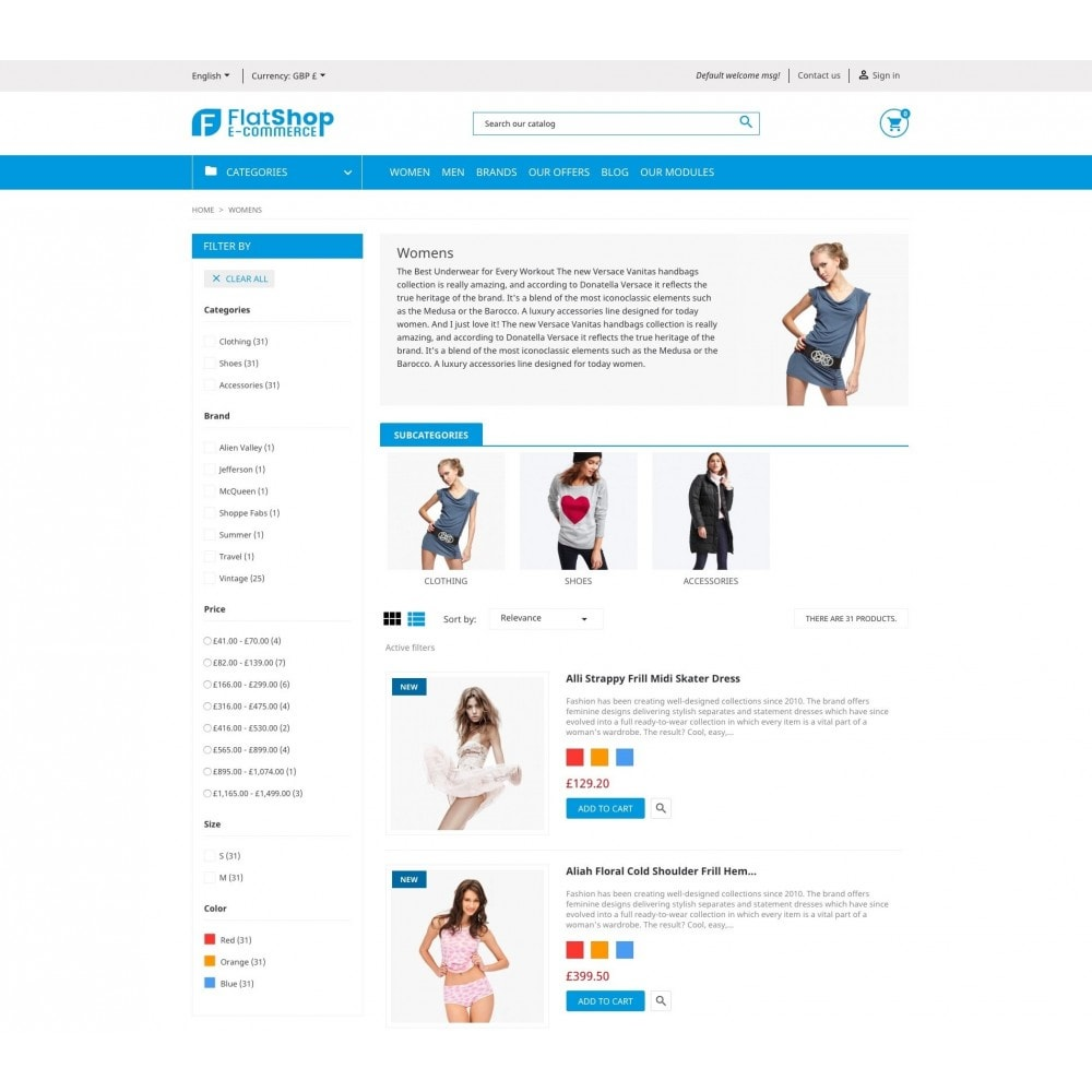 theme - Fashion & Shoes - FlatShop - 5