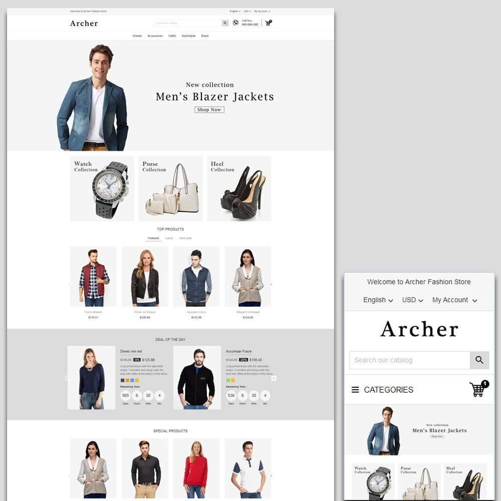 theme - Moda & Obuwie - Archer Fashion Store - 1