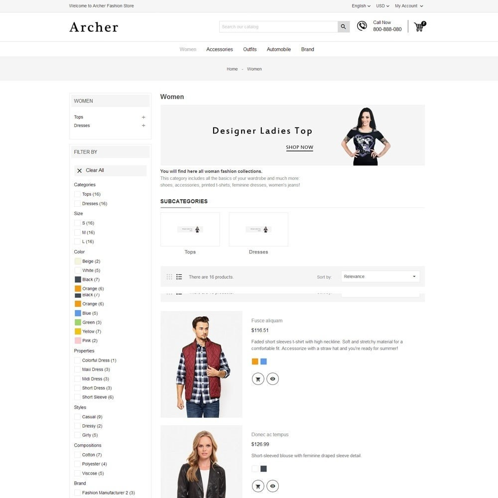 theme - Mode & Schoenen - Archer Fashion Store - 6