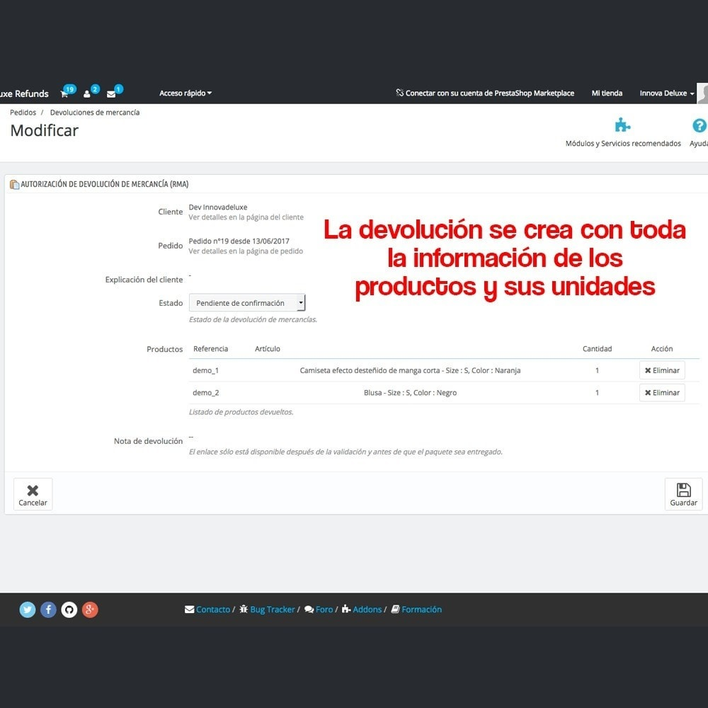 module - Marco Legal (Ley Europea) - Devolución de productos (Ley de defensa del consumidor) - 15