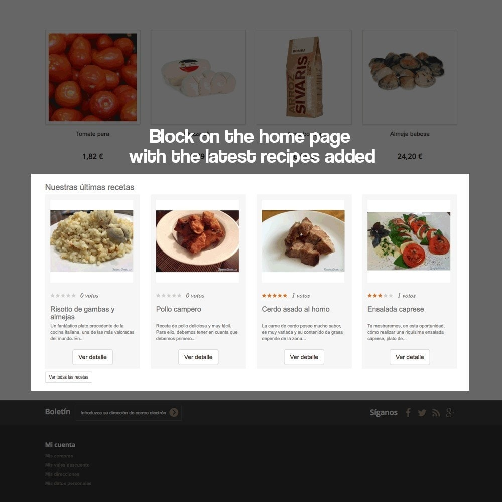 module - Blog, Forum & Aktualności - Recipe manager with the products of the store - 9