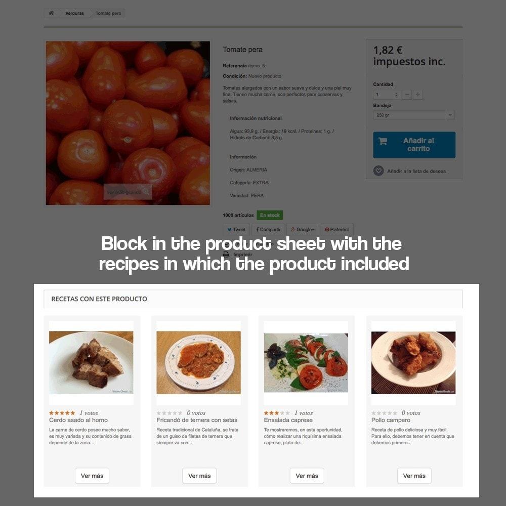 module - Blog, Forum & Aktualności - Recipe manager with the products of the store - 11