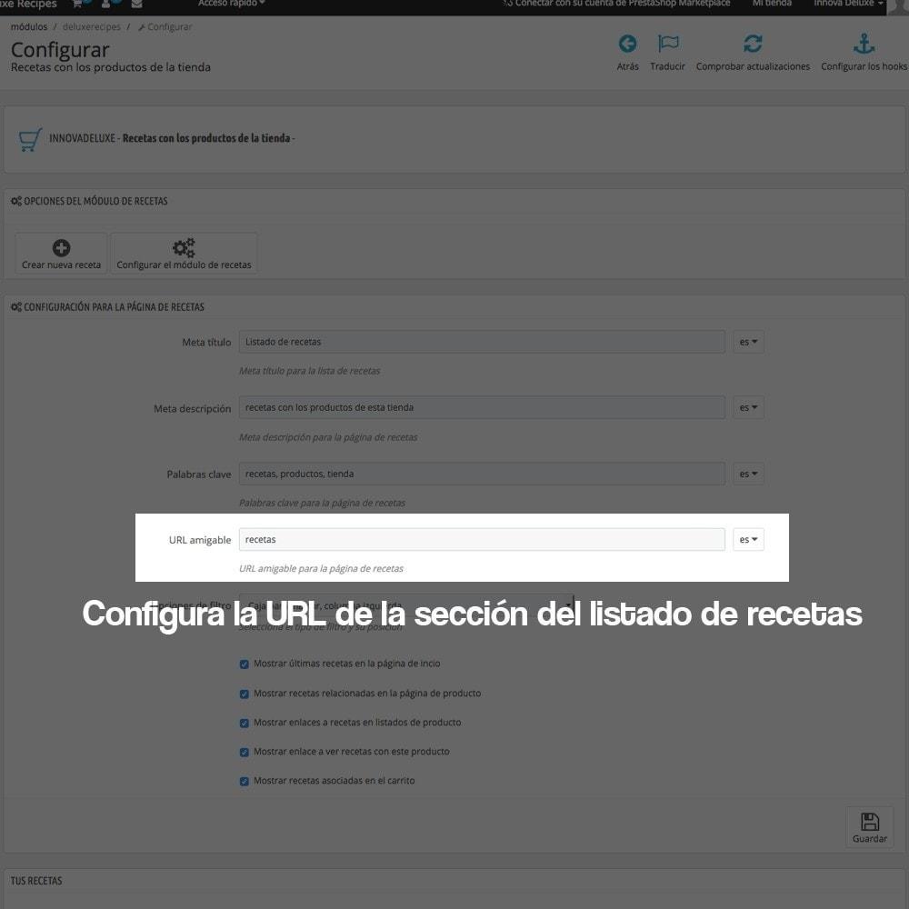 module - Blog, Foro y Noticias - Gestor de recetas con los productos de la tienda - 5