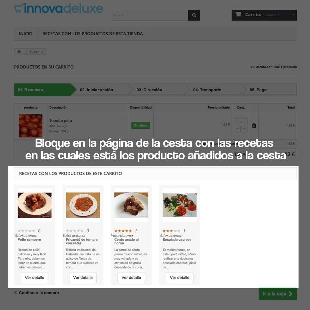 module - Blog, Foro y Noticias - Gestor de recetas con los productos de la tienda - 17