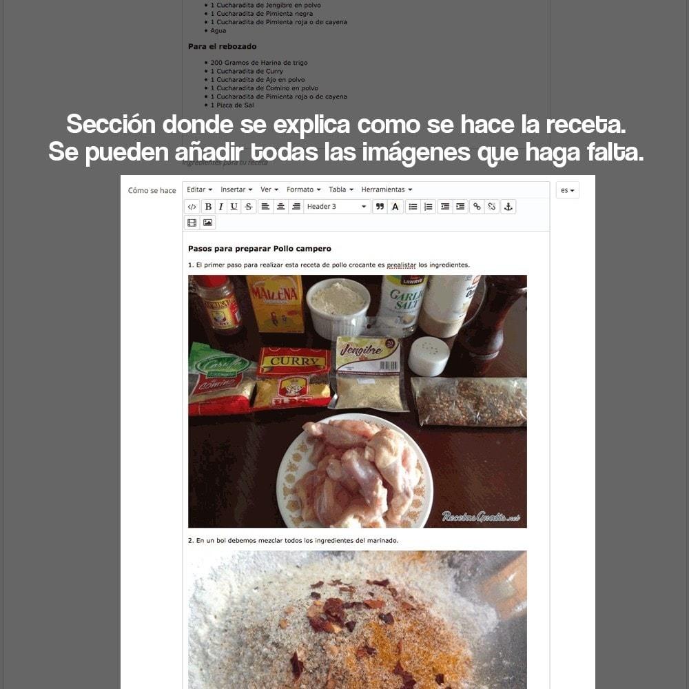 module - Blog, Foro y Noticias - Gestor de recetas con los productos de la tienda - 23