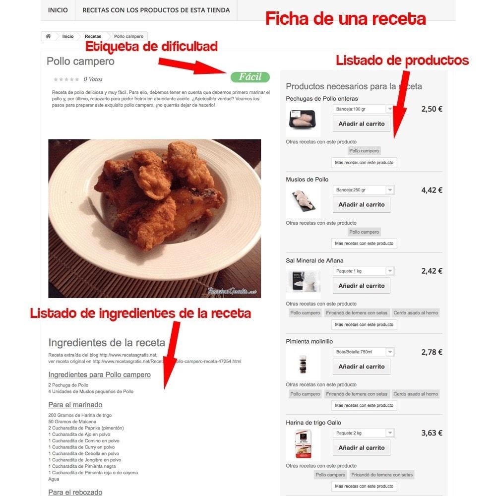 module - Blog, Foro y Noticias - Gestor de recetas con los productos de la tienda - 32