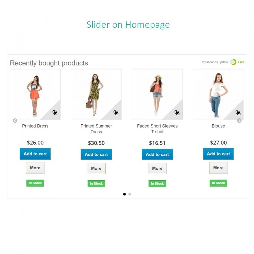 module - Order Management - Recent orders - Recently bought products with Ajax - 6