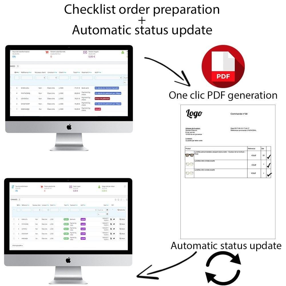 module - Zarządzanie zamówieniami - Checklist orders preparation + Automatic status update - 1
