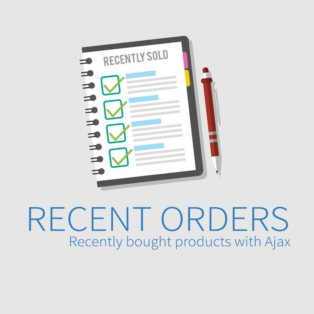 module - Gestione Ordini - Ordini recenti - Nuovi prodotti acquistati con Ajax - 1