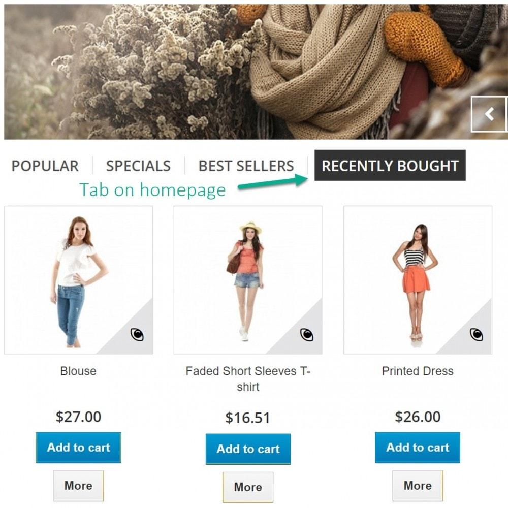 module - Zarządzanie zamówieniami - Ostatnie zamówienia - ostatnio kupowane produkty - 7