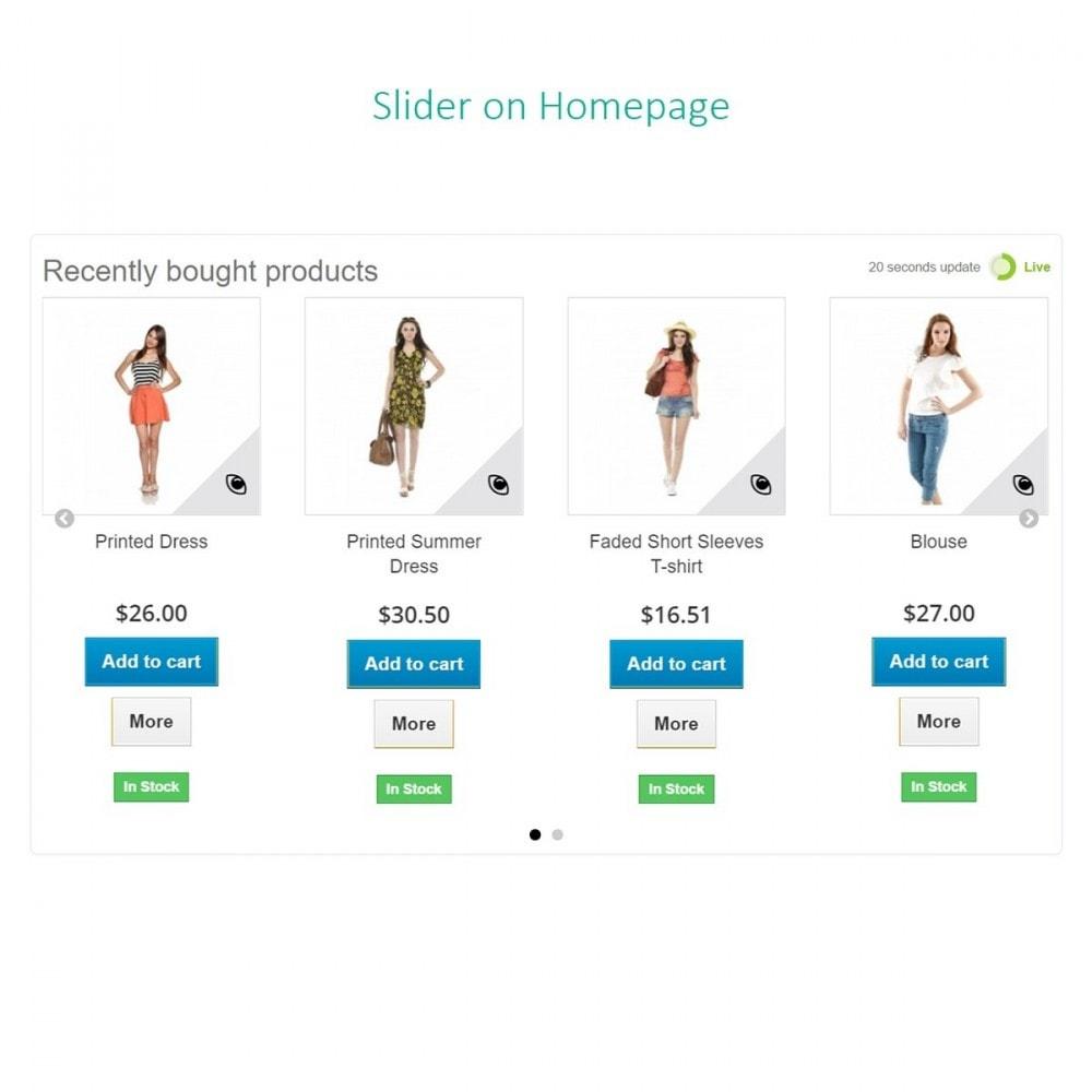 module - Gerenciamento de pedidos - Pedidos recentes - Produtos recentemente comprados - 6