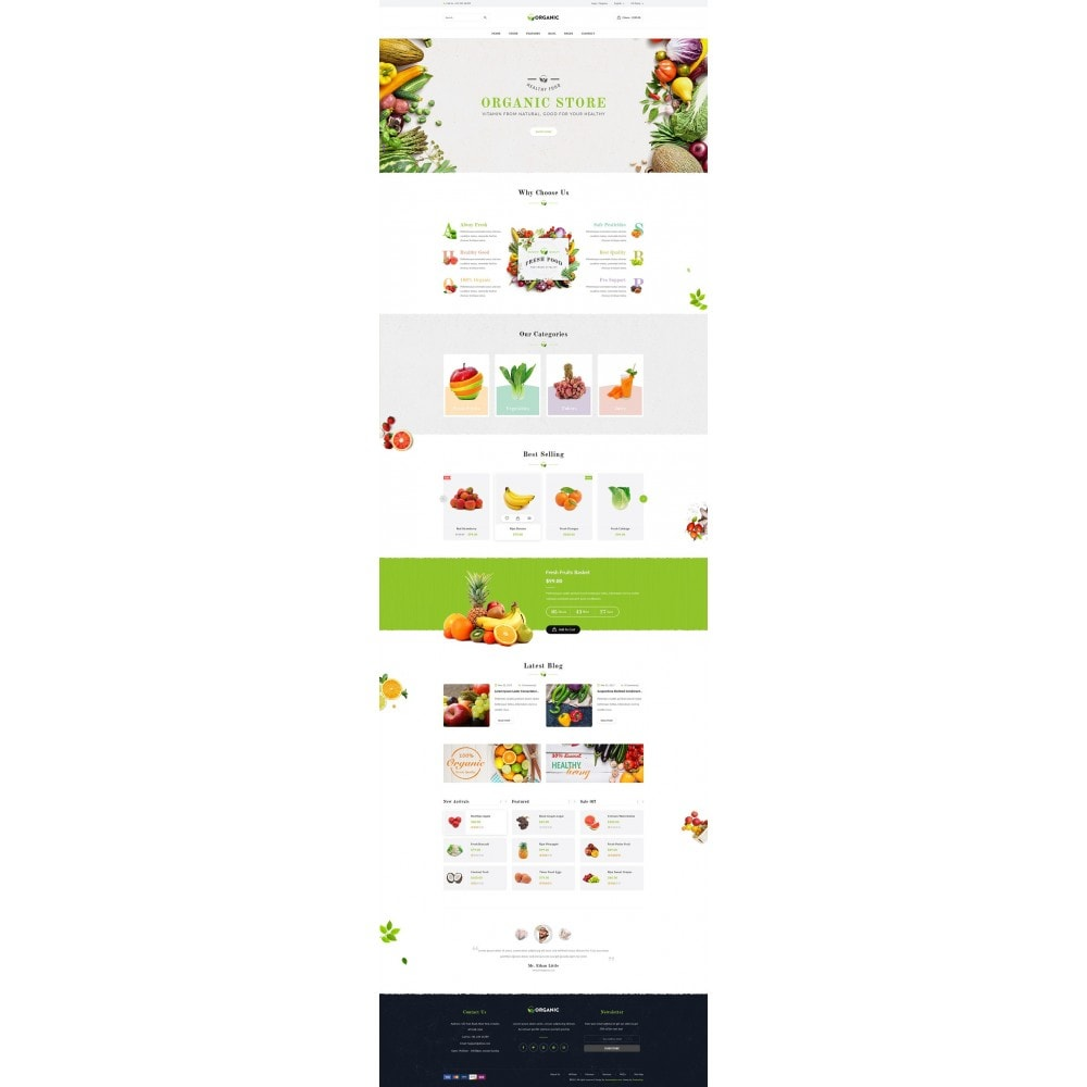 theme - Food & Restaurant - JMS Organic - 8