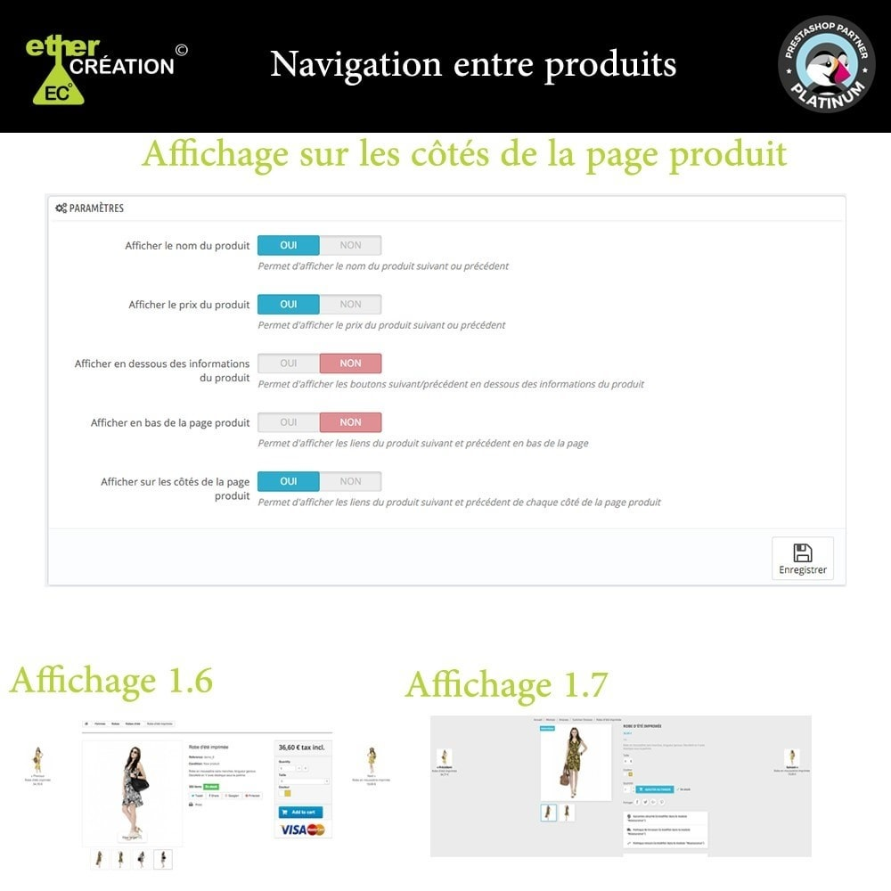 module - Outils de navigation - Produit Suivant/Précédent sur page produit - 6