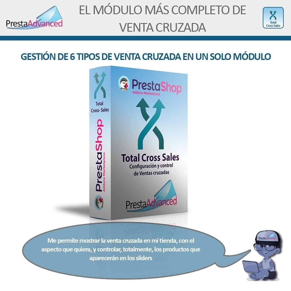 module - Ventas cruzadas y Packs de productos - Total Cross Sales - configuración de ventas cruzadas - 1