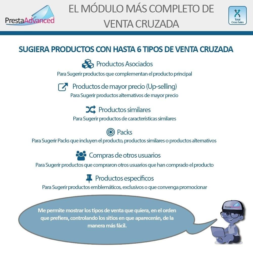 module - Ventas cruzadas y Packs de productos - Total Cross Sales - configuración de ventas cruzadas - 2