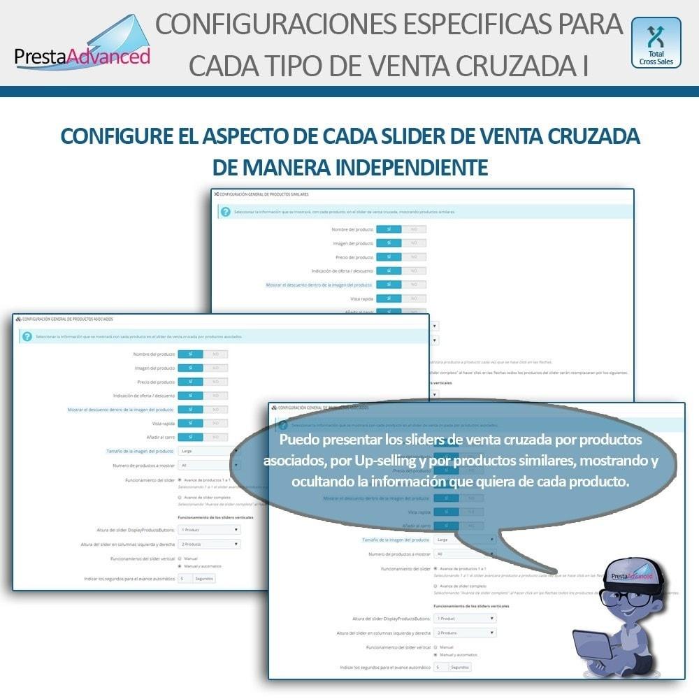 module - Ventas cruzadas y Packs de productos - Total Cross Sales - configuración de ventas cruzadas - 4