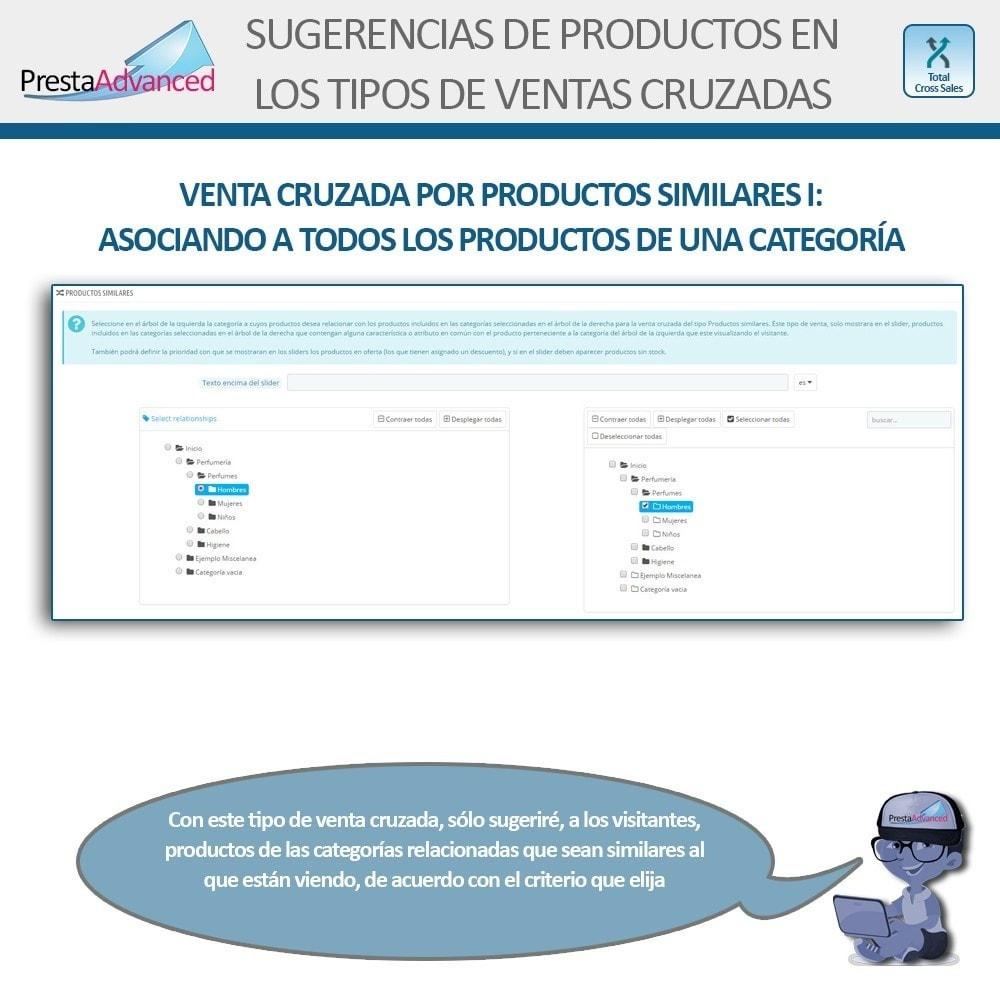 module - Ventas cruzadas y Packs de productos - Total Cross Sales - configuración de ventas cruzadas - 15
