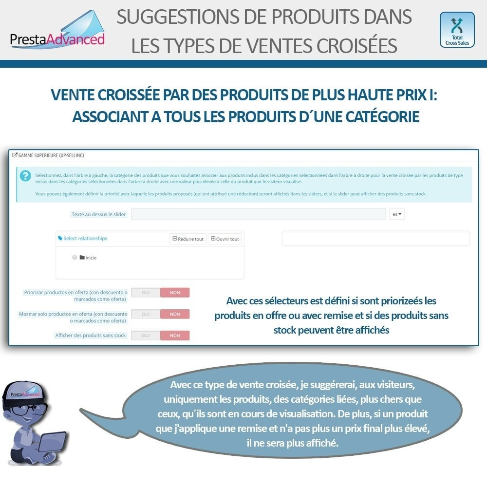 module - Ventes croisées & Packs de produits - Total Cross Sales - Configuration des ventes croisées - 12