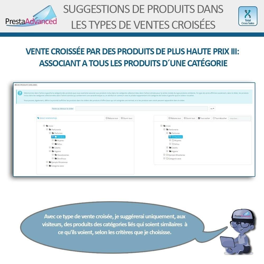 module - Ventes croisées & Packs de produits - Total Cross Sales - Configuration des ventes croisées - 14