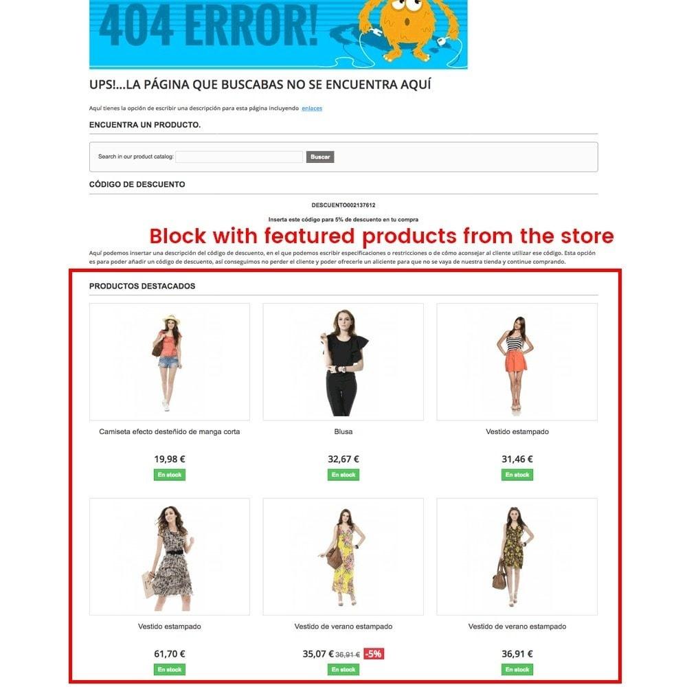 module - Gestão de URL & Redirecionamento - Customization of the 404 error page - 6