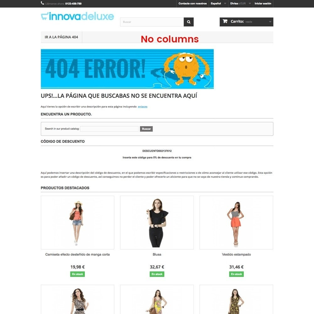 module - URL & Redirects - Customization of the 404 error page - 15