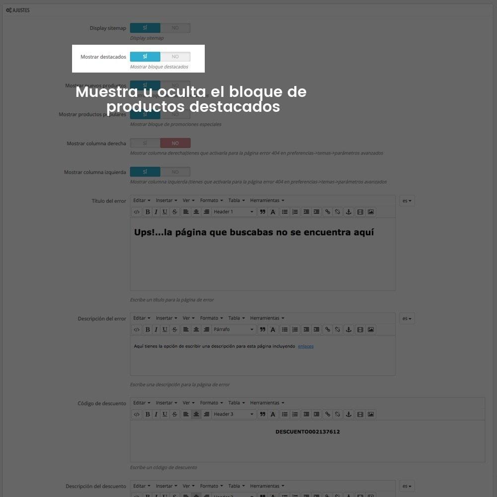 module - URL y Redirecciones - Personalización de la página de error 404 - 5
