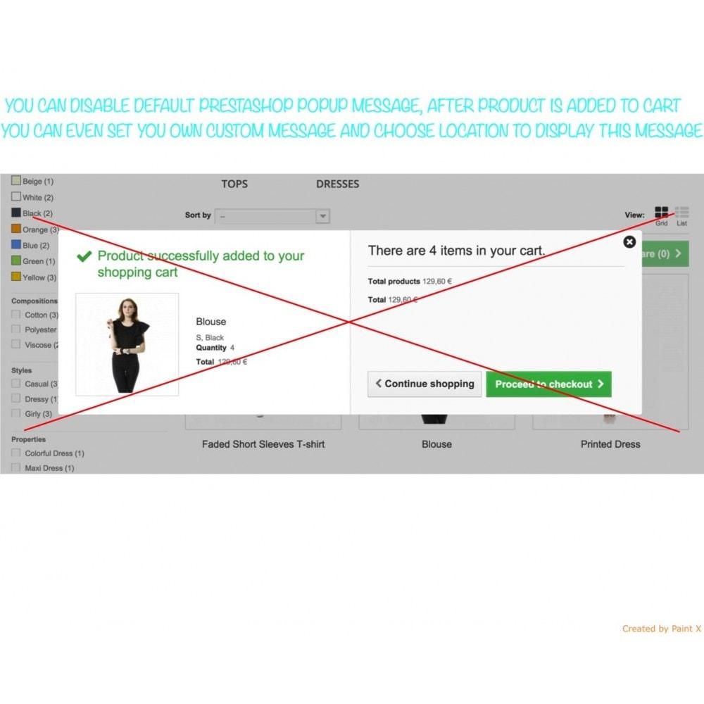 module - Iscrizione e Processo di ordinazione - Effetto volo del prodotto nel carrello, popup ed altro - 2