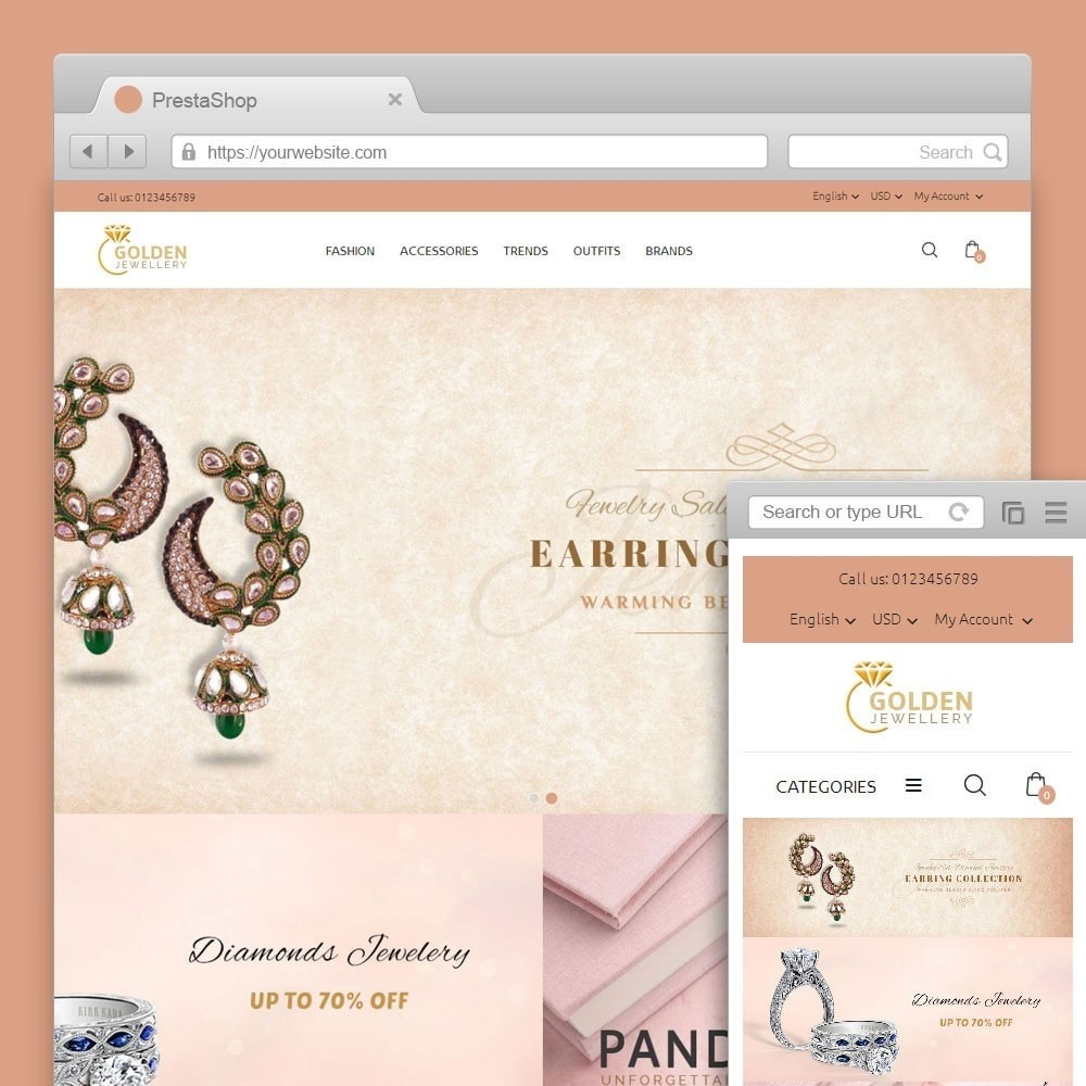 theme - Bellezza & Gioielli - Golden Jewellery Store - 1