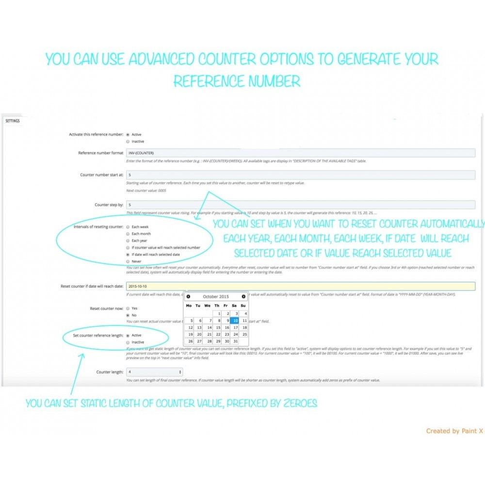 module - Buchhaltung & Rechnung - Nr. für Bestellung, Faktur, Lieferbeleg und Gutschrift - 4