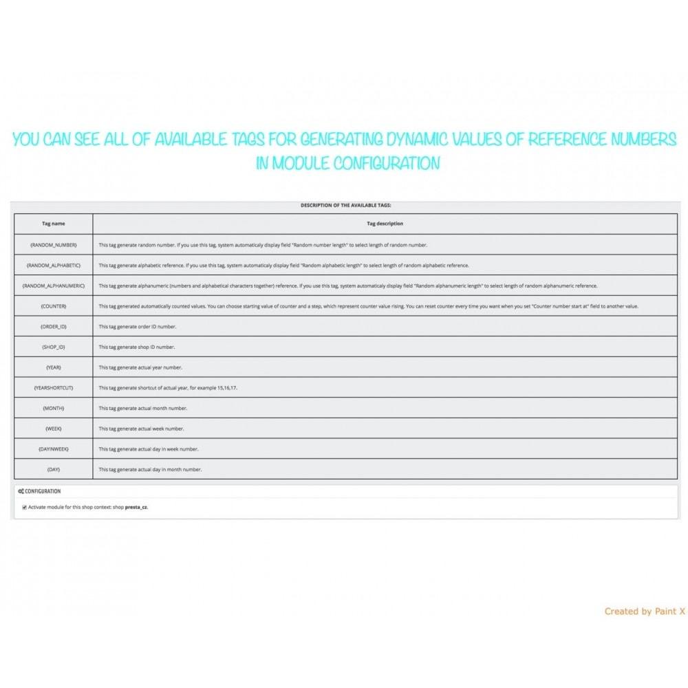 module - Buchhaltung & Rechnung - Nr. für Bestellung, Faktur, Lieferbeleg und Gutschrift - 5