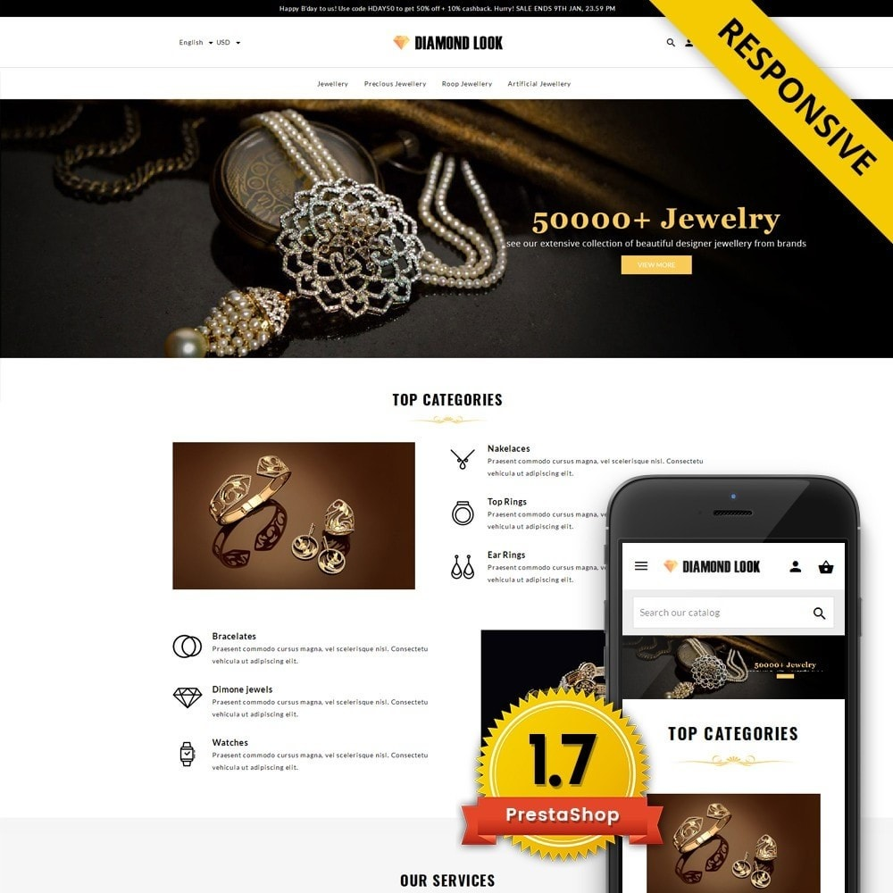 theme - Schmuck & Accesoires - Diamond Look Store - 1