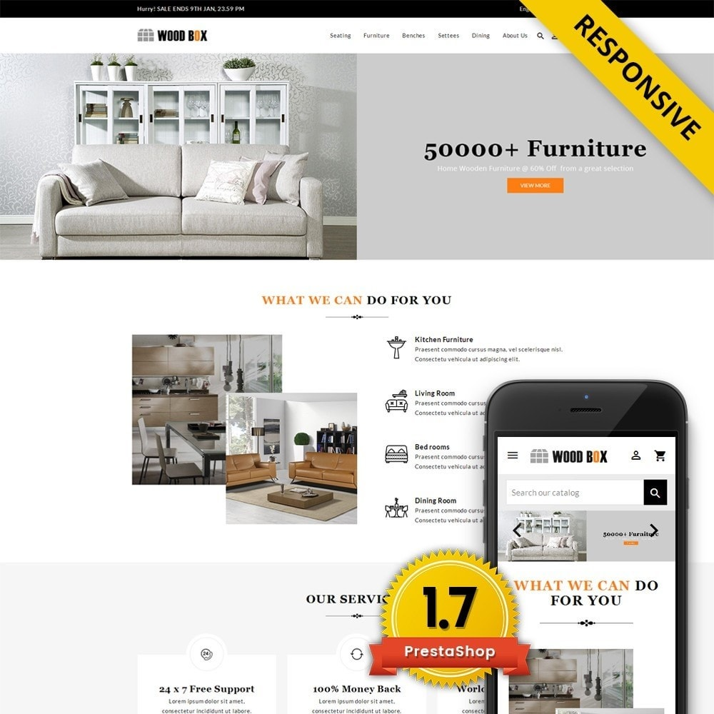 theme - Dom & Ogród - Wood Box - Furniture Store - 1