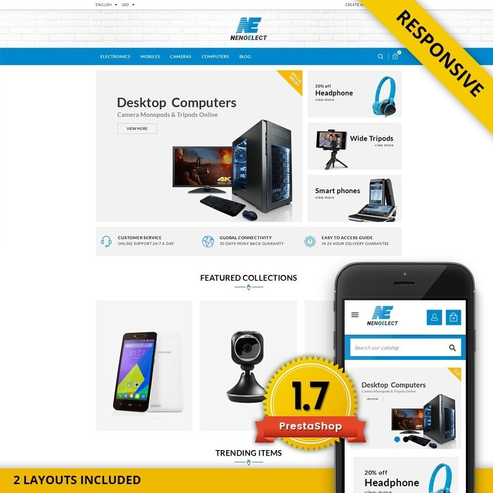 theme - Eletrônicos & High Tech - NenoElect - All Electronics Store - 1