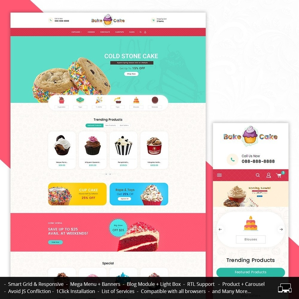 theme - Alimentation & Restauration - Cake Shop - 1
