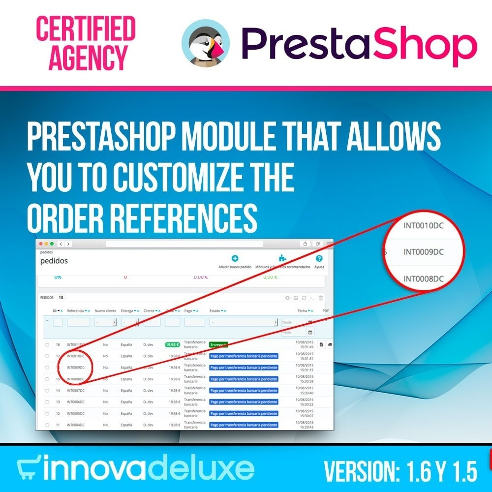 module - Contabilidade & Cobrança - Customizing Order Reference - 1