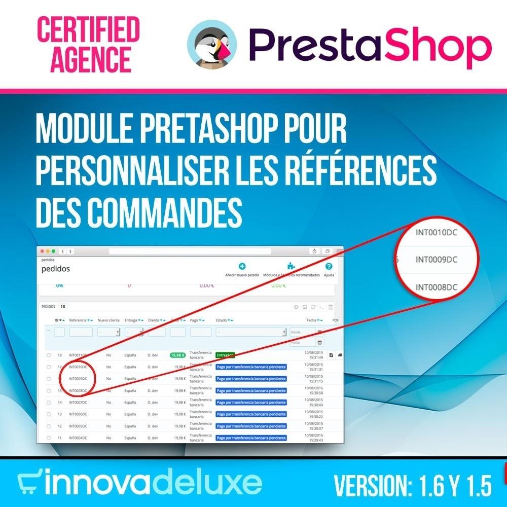 module - Comptabilité & Facturation - Personnalisation de la référence des commandes - 1
