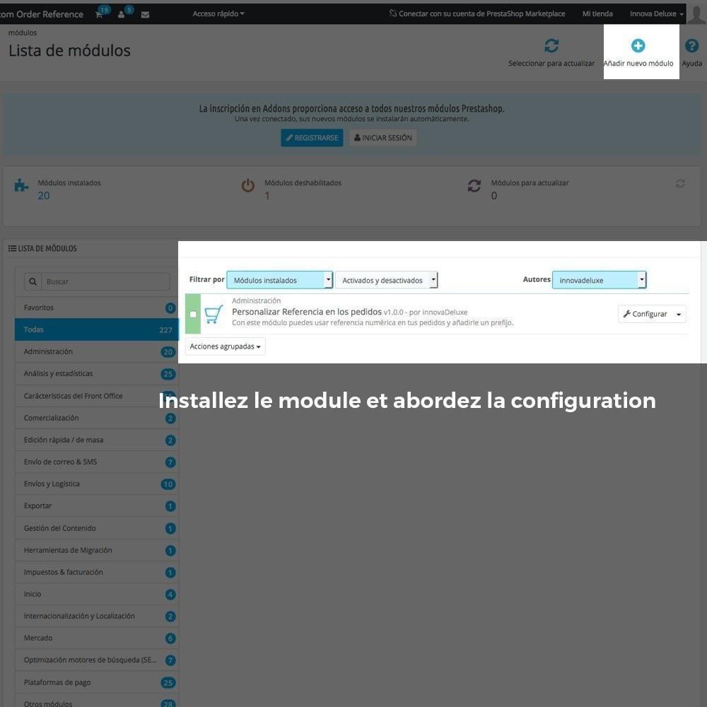 module - Comptabilité & Facturation - Personnalisation de la référence des commandes - 2