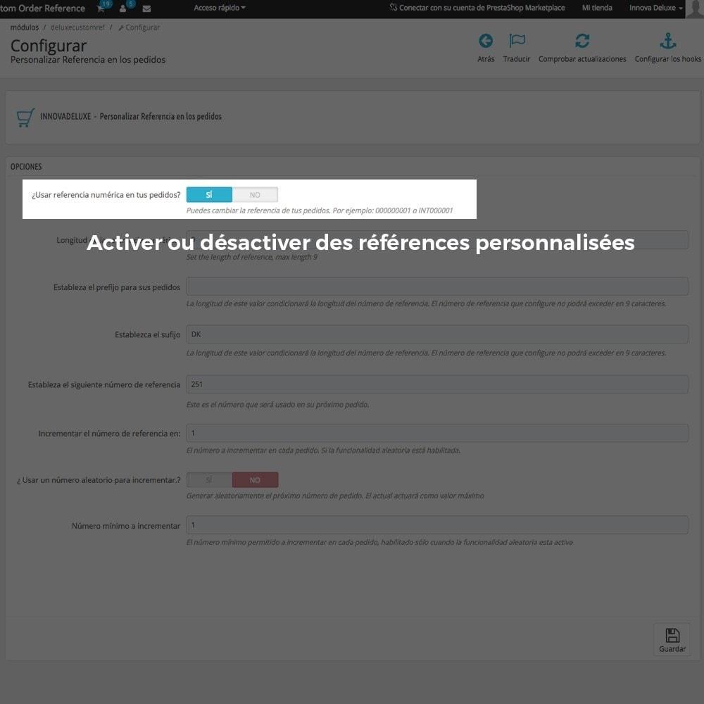 module - Comptabilité & Facturation - Personnalisation de la référence des commandes - 3