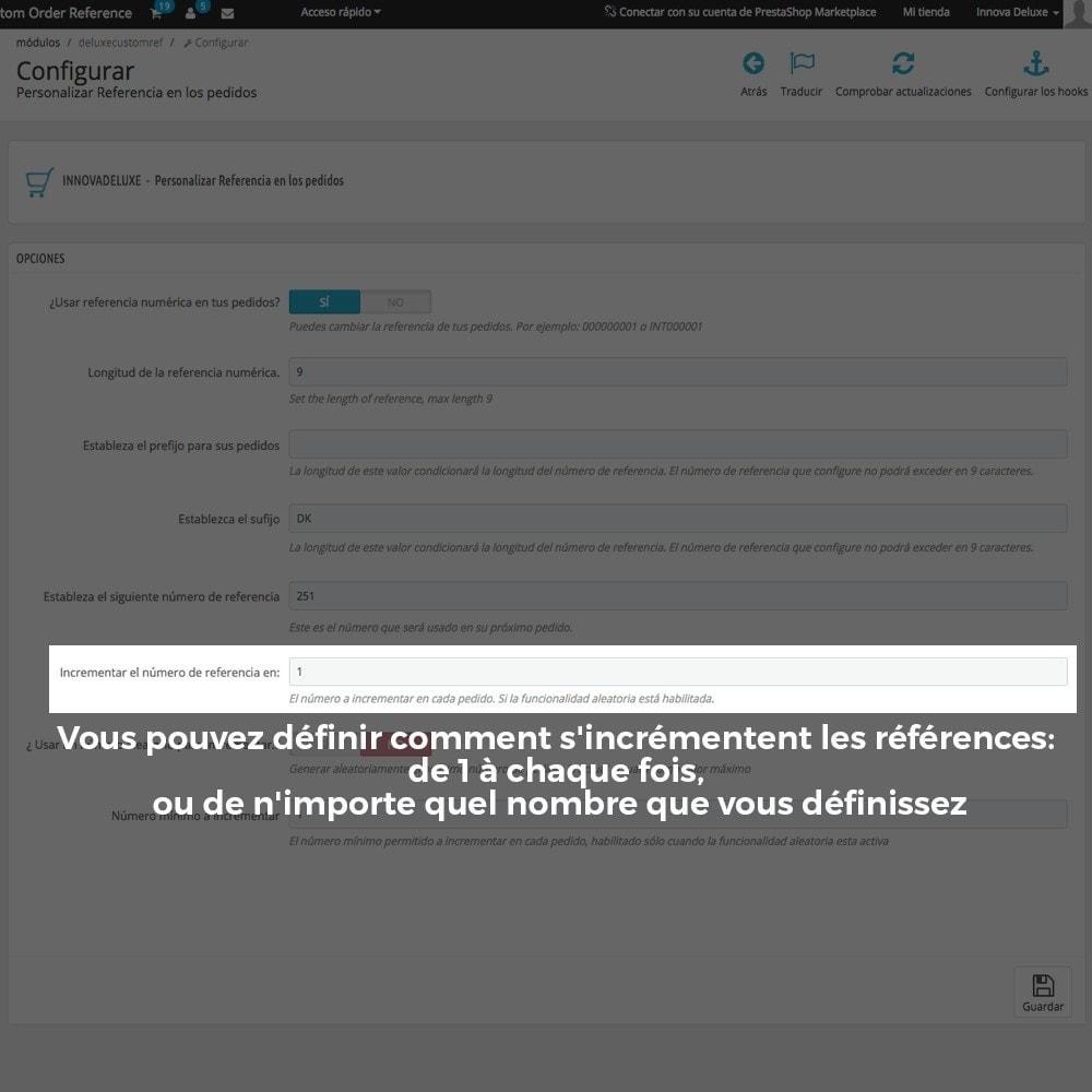 module - Comptabilité & Facturation - Personnalisation de la référence des commandes - 8