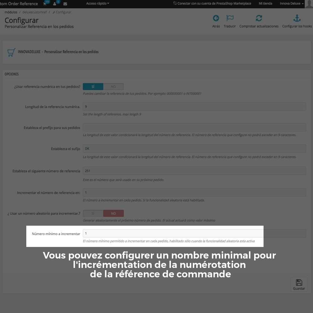 module - Comptabilité & Facturation - Personnalisation de la référence des commandes - 10
