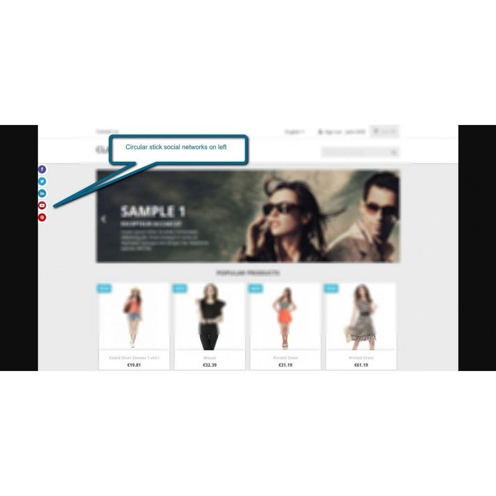 module - Pulsanti di condivisione & Commenti - Stick Social Networks - 1