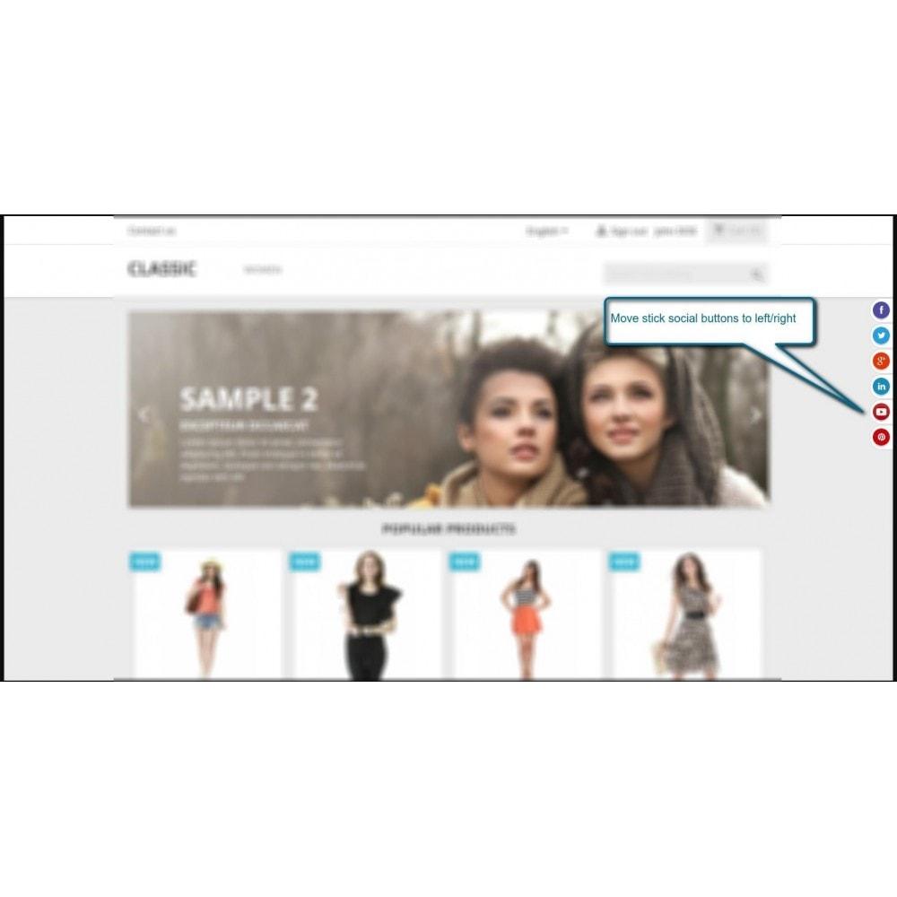 module - Pulsanti di condivisione & Commenti - Stick Social Networks - 5