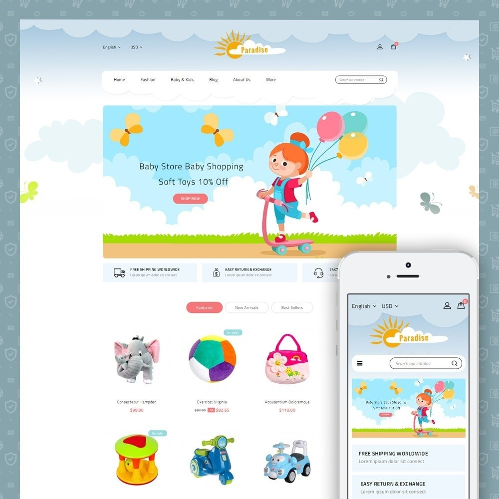 theme - Niños y Juguetes - Paradise Toys Store - 1