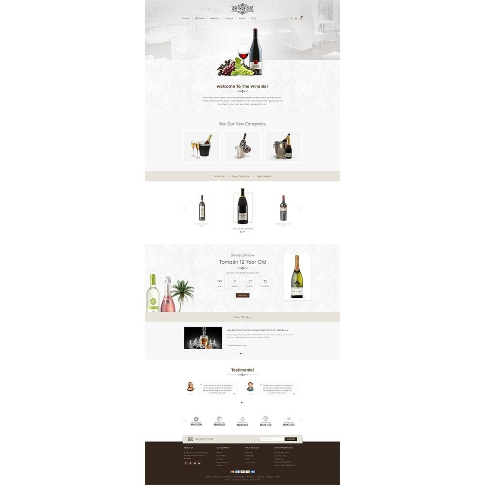 theme - Drink & Wine - Winebar WIne Store - 2