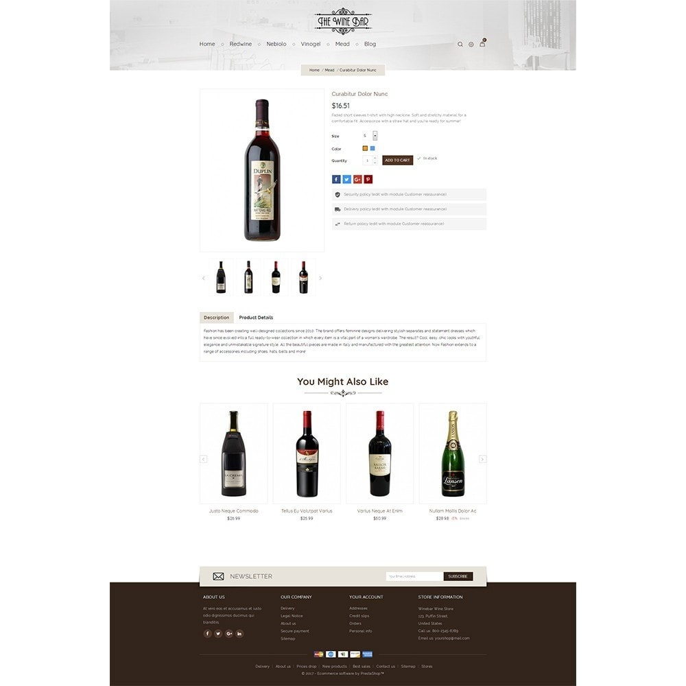 theme - Drink & Wine - Winebar WIne Store - 3